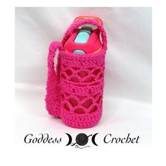 """WHAT A MESH"" WATER BOTTLE HOLDER – FREE CROCHET PATTERN WITH CHART"