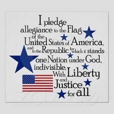 Pledge of Allegiance...live it, learn it.