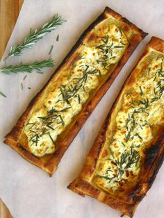 Quick Rosemary, Fig, and Goat Cheese Tarts