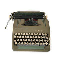 Vintage Typewriter Smith Corona Typewriter by VivaTerraVintage