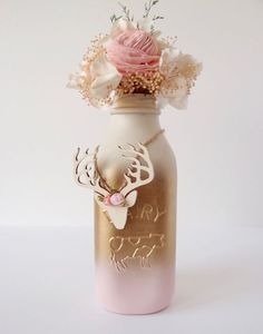 Milk bottle decoration for wedding