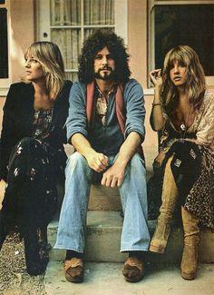 Fleetwood Mac, or at least some of them #stevienicks #christinemcvie #lindseybuckingham