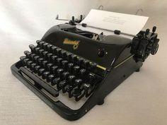 Schreibmaschine Rheinmetall KsT um 1951 vintage portable typewriter