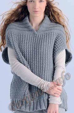 Пуловер/накидка (ж) 24*75 Phildar №3115