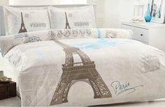 Paris Bedding Set Queen Size by SPRINGTIMESHOP on Etsy