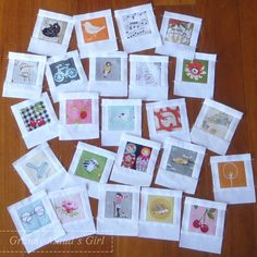 Polaroid patchwork blocks
