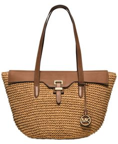 e886a6158bd9 MICHAEL Michael Kors Straw Naomi Large Tote & Reviews - Handbags &  Accessories - Macy's