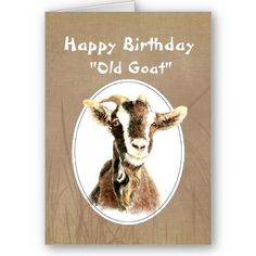 Funny Birthday Over the Hill Old Goat Humor