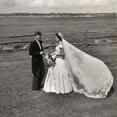 President John F Kennedy and First Lady Jacqueline Kennedy on their Wedding Day