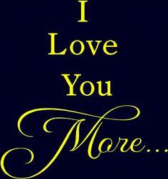 I <3 u more