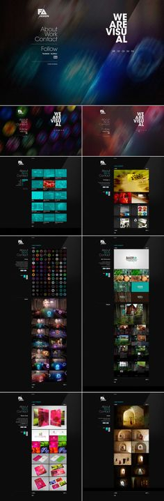 Web Design by FA Design, via Behance