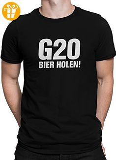 G20 Bier holen! G20 Gipfel Hamburg Protest Demo / Premium Fun Motiv T-Shirt XS-5XL mit Aufdruck / Ideales Geschenk, Größe:S, Color:Schwarz - Shirts mit spruch (*Partner-Link)