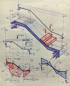 Páči sa mi to: komentáre: 76 – Civil Engineering ( - insaat - Architektur Civil Engineering Design, Civil Engineering Construction, Engineering Science, Architecture Drawings, Architecture Details, Staircase Architecture, Building Architecture, Structural Analysis, Building Stairs