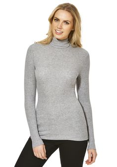 Clothing at Tesco | F&F Ribbed Roll Neck Top > tops > Tops & T-Shirts > Women