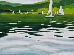 Oil On Canvas, Boats, Golf Courses, To Go, Places, Ships, Boat, Lugares, Ship