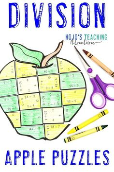 These DIVISION Apple Math Activities for third, fourth, or fifth grade are great for centers, stations, early or fast finishers, review, test prep, back to school, a Johnny Appleseed unit, or anytime during the fall months. Click through now to learn more, grab a FREE printable, have some fun, work on your fine motor cutting skills, and more. #HoJoTeaches #AppleMathCenters #DivisionPuzzles Apple Activities, Activities For Kids, Math Stations, Math Centers, Apple Life Cycle, Math Division, 5th Grade Classroom, Back To School Activities, Special Education Teacher