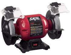 Skil Grinder with LightSkil Benchtop Power Tools are Quality Tools at a Great Price!Skil Grinder with Light Features: amp engine Built-In LED Work Lights Over Both Wheels Medium and Coarse Wheels Adjustable Tool Rests Adjustable Lamp. Woodworking Power Tools, Essential Woodworking Tools, Woodworking Lathe, Woodworking Workshop, Woodworking Projects, Woodworking Classes, Woodworking Videos, Unique Woodworking, Diy Projects