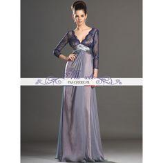 robe-pour-mere-de-la-mariee-longue-dentelle-et-mousseline-de-soie-2.jpg (800×800)