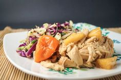 Sunday Slow Cooker: Hawaiian Chicken - Slender Kitchen. Works+for+Weight+Watchers®+diet.+229+Calories.