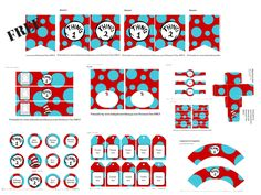 Dr Seuss Baby Shower Ideas, Thing 1 Thing 2 baby shower, Cat in the Hat baby shower supplies, Dr Seuss Truffula trees Decoration, Dr Seuss Baby shower games Twin Baby Shower Theme, Baby Shower Fun, Baby Shower Parties, Baby Shower Gifts, Dr Seuss Baby Shower Ideas, Free Baby Shower Printables, Free Baby Shower Games, Dr Seuss Free Printables, Party Printables