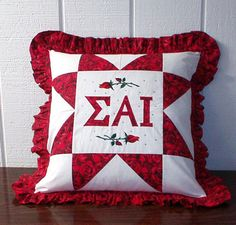 SAI Pillow. Also check www.Violettesbybecky.com for unique Sigma Alpha Iota gifts from a licensed SAI company!.