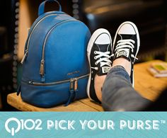 Michael Kors - Rhea Zip Backpack. Go to wkrq.com to find out how to play Q102's Pick Your Purse!