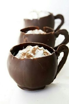 Hot chocolate in chocolate