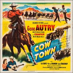 "Movie Posters:Western, Cow Town (Columbia, 1950). Six Sheet (79"" X 80""). Western.. ..."