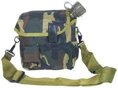 Woodland Camouflage 2 Quart Canteen Bladder Cover with Bladder Canteen  Strap -- Learn more by visiting the image link.