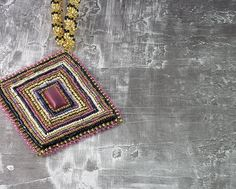 Art Deco Bead Embroidered Necklace by ThreeFatesDesign on Etsy, $100.00
