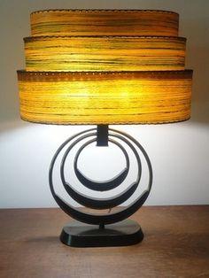 AMAZING 3 tier ATOMIC MID CENTURY MODERN 1950s LAMP retro eames