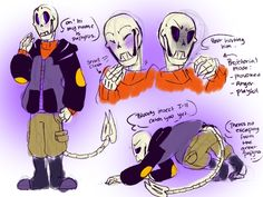 NewTale: papyrus sketches(baby bones) by Bunnymuse.deviantart.com on @DeviantArt