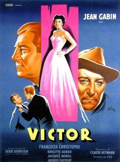 VICTOR – Claude Heymann (1951) – Jean Gabin, Françoise Christophe ...