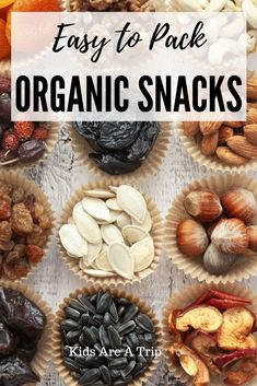Important to keep snacks on hand when traveling because you never know when hunger will strike. Here are some of our favorite easy to pack organic snacks to take on your next trip. - Kids Are A Trip Organic Snacks, Eating Organic, Organic Recipes, Road Trip Snacks, Travel Snacks, Road Trips, Healthy Food Options, Healthy Snacks, Healthy Recipes