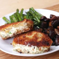 Garlic Herb-stuffed Pork Chops