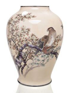 A large cloisonné enamel vase Christie's Japanese Art: Meiji Period Magnificence