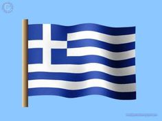 Greek Flag--Flag was adopted shortly after Greece gained its independence during this era. Mickey Mouse Pumpkin, Greek Flag, Greek Language, Greek Music, Greek Art, Greek Life, Photoshop Actions, Greece, Car Decals