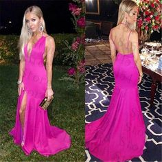 Find More Evening Dresses Information about Long Evening Dress 2016 Halter Mermaid Split Satin robe de soiree Spaghetti Straps Simple Women Party Dresses Cheap Evening Gown,High Quality dress basic,China dress up shoes for men Suppliers, Cheap dress up real celebrities from Lucky Wedding Family on Aliexpress.com