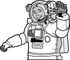 Photo By Clker-Free-Vector-Images   Pixabay   #astronaut #space #exploration #traveltechnology #travel