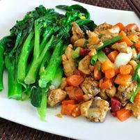 Vegetarian Kung Pao with Broccoli and Peanuts More