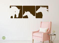 Horse Panels - Western Decor - Vinyl Wall Lettering - Home Decor - Bedroom Decor - Removable - Vinyl Wall Art Graphics Decals Stickers 1853 by thestickerhut on Etsy