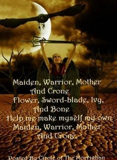 Maiden, Warrior, Mother and Crone Wiccan Witch, Wicca Witchcraft, Magick Spells, Maiden Mother Crone, Pagan Beliefs, Hedge Witch, Wiccan Crafts, Eclectic Witch, Triple Goddess