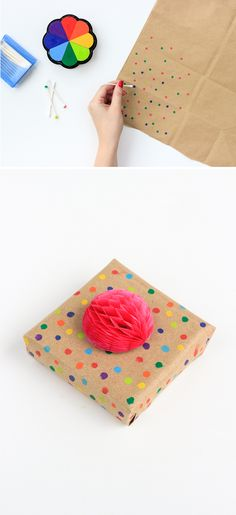 3 Last Minute Gift Wrap DIYS (made from common household items!) MichaelsMakers The Crafted Life