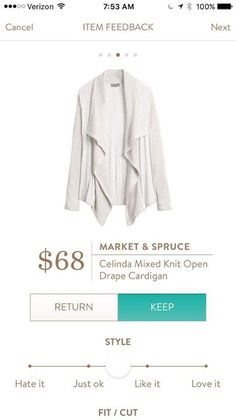 #stitchfix @stitchfix stitch fix https://www.stitchfix.com/referral/3590654 Market & Spruce Celinda Mixed Knit Open Drape Cardigan