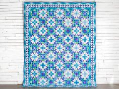 """Color Crystals Quilt Kit by Nancy Smith featuring Boundless Blenders Ombre. 86x106"""""""