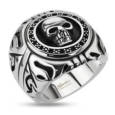Stainless Steel Willy G Style Wide Ring | Biker Jewels