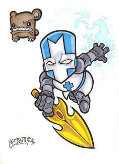 Castle Crashers Blue Knight by on DeviantArt Castle Crashers, Super Cool Stuff, Gaming Tattoo, Fallen London, Skullgirls, Yandere Simulator, Life Is Strange, Indie Games, Cute Drawings