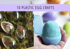 10 Plastic Egg Craft Ideas from @Babble. Make fun things like maracas, garland, a snake, planters and more!