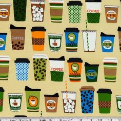 Iced or hot, black or with milk, this print features a coffee to satisfy everyone's caffeine addiction!