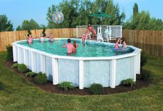 Idea For Above Ground Pool Landscaping